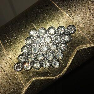 Golden Clutch with Diamonds